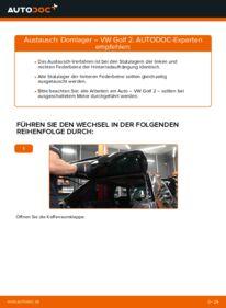 Wie der Wechsel durchführt wird: Domlager 1.8 GTI Golf 2 tauschen