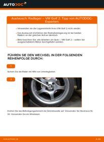 Wie der Wechsel durchführt wird: Radlager 1.8 GTI VW GOLF II (19E, 1G1) tauschen