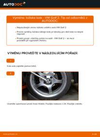 Jak provést výměnu: Lozisko kola na 1.8 GTI VW GOLF II (19E, 1G1)