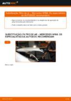 Substituição Filtro de Ar MERCEDES-BENZ A-CLASS: pdf gratuito