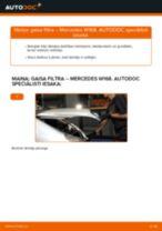 MERCEDES-BENZ A-CLASS Gaisa filtrs maiņa: bezmaksas pdf