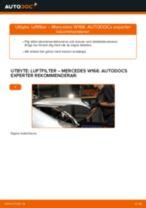 Montering Luftfilter MERCEDES-BENZ A-CLASS (W168) - steg-för-steg-guide