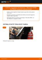 Kaip pakeisti Mercedes W168 bagažinės amortizatorių - keitimo instrukcija