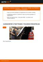 Slik bytter du bakluke demper på en Mercedes W168 – veiledning