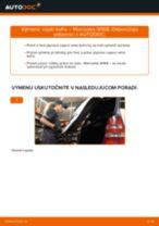 Ako vymeniť vzpěry kufru na Mercedes W168 – návod na výmenu