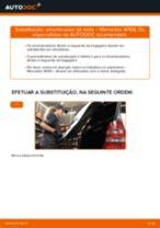Como mudar amortecedor da mala em Mercedes W168 - guia de substituição