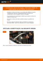 Como mudar discos de travão da parte dianteira em Mercedes W168 diesel - guia de substituição