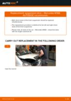 MERCEDES-BENZ A-CLASS (W168) change Shock Absorber rear: guide pdf