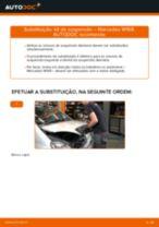 Como mudar kit de suspensão da parte dianteira em Mercedes W168 diesel - guia de substituição