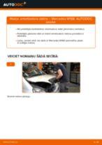 MERCEDES-BENZ aizmugurē un priekšā Amortizators nomaiņa dari-to-pats - tiešsaistes instrukcijas pdf