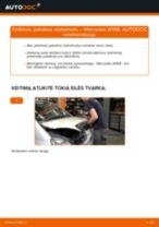 MERCEDES-BENZ A-CLASS Amortizatorius keitimas: nemokamas pdf