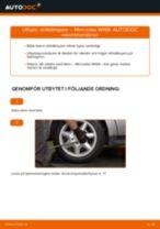 Byta Väghållning MERCEDES-BENZ A-CLASS: gratis pdf