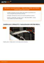 Vgraditi Zavorne Ploščice MERCEDES-BENZ A-CLASS (W168) - priročniki po korakih