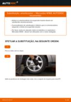 Como mudar amortecedores da parte traseira em Mercedes W168 diesel - guia de substituição