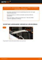 Paigaldus Piduriklotsid MERCEDES-BENZ A-CLASS (W168) - samm-sammuline käsiraamatute