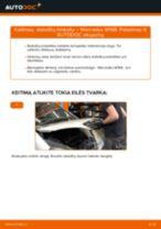 Kaip pakeisti ir sureguliuoti Stabdžių Kaladėlės MERCEDES-BENZ A-CLASS: pdf pamokomis