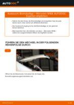 Austauschen von Scheibenbremsbeläge MERCEDES-BENZ A-CLASS: PDF kostenlos