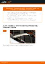 Cómo cambiar: pastillas de freno de la parte delantera - Mercedes W168 diésel   Guía de sustitución