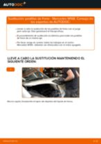 Cambio Pastilla de freno delanteras y traseras MERCEDES-BENZ bricolaje - manual pdf en línea