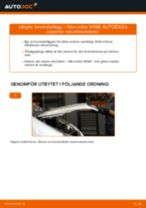Byta Bromsbeläggsats bak och fram MERCEDES-BENZ själv - online handböcker pdf
