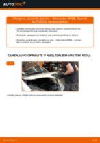 Kako zamenjati in prilagoditi Zavorne Ploščice MERCEDES-BENZ A-CLASS: vodnik pdf
