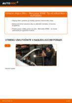 Ako vymeniť motorové oleje a filtre na Mercedes W168 diesel – návod na výmenu