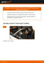 Montavimo Vidinė Skersinė Vairo Trauklė MERCEDES-BENZ A-CLASS (W168) - žingsnis po žingsnio instrukcijos
