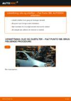 Udskift motorolie og filter - Fiat Punto 188 benzin | Brugeranvisning
