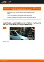 Cómo cambiar: aceite y filtro - Fiat Punto 188 diésel | Guía de sustitución