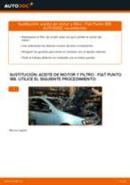 Cómo cambiar: aceite y filtro - Fiat Punto 188 gasolina | Guía de sustitución