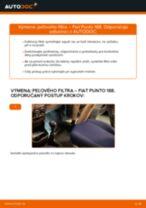 Ako vymeniť filter vnútorného priestoru na Fiat Punto 188 bensin – návod na výmenu
