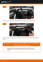 Como mudar escovas do limpa vidros da parte dianteira em Fiat Punto 188 gasolina - guia de substituição