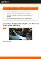 FIAT PUNTO (188) Bremsbeläge wechseln vorderachse und hinterachse Anleitung pdf