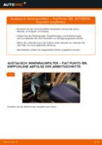Innenraumfilter wechseln FIAT PUNTO: Werkstatthandbuch