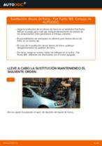 Cómo cambiar: discos de freno de la parte delantera - Fiat Punto 188 gasolina | Guía de sustitución