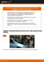 Πώς να αλλάξετε δισκόπλακες εμπρός σε Fiat Punto 188 βενζίνη - Οδηγίες αντικατάστασης