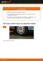Como mudar terminal de direção em Fiat Punto 188 gasolina - guia de substituição