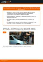 Como mudar discos de travão da parte dianteira em Fiat Punto 188 gasolina - guia de substituição