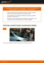 Como mudar pastilhas de travão da parte dianteira em Fiat Punto 188 gasolina - guia de substituição