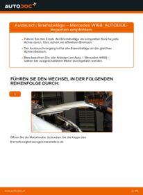 Wie der Austausch bewerkstelligt wird: Bremsbeläge beim MERCEDES-BENZ A-CLASS