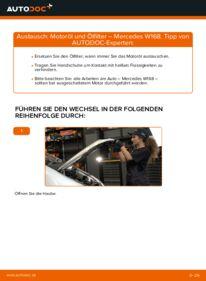Wie der Wechsel durchführt wird: Ölfilter A 140 1.4 (168.031, 168.131) Mercedes W168 tauschen