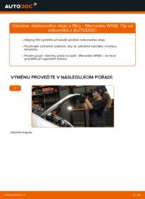 Jak provést výměnu: Olejovy filtr na A 140 1.4 (168.031, 168.131) Mercedes W168
