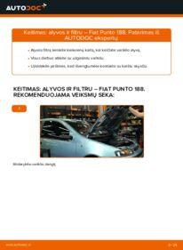 Kaip atlikti keitimą: 1.2 60 Fiat Punto 188 Alyvos filtras