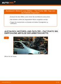 Wie der Wechsel durchführt wird: Ölfilter 1.2 60 Fiat Punto 188 tauschen