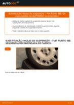 Como mudar molas de suspensão da parte traseira em Fiat Punto 188 gasolina - guia de substituição