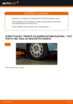 Como mudar tirante da barra estabilizadora da parte dianteira em Fiat Punto 188 gasolina - guia de substituição