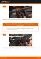 Jak vyměnit přední stírací lišty na VW Passat B5 Variant diesel – návod k výměně