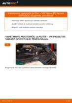 Kuidas vahetada VW Passat B5 Variant diisel mootoriõli ja filtrit – õpetus