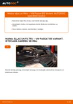 Kā nomainīt: eļļas un filtru VW Passat B5 Variant dīzelis - nomaiņas ceļvedis
