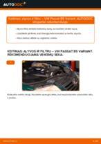 Automechanikų rekomendacijos VW Passat B6 2.0 TDI 16V Stabdžių Kaladėlės keitimui